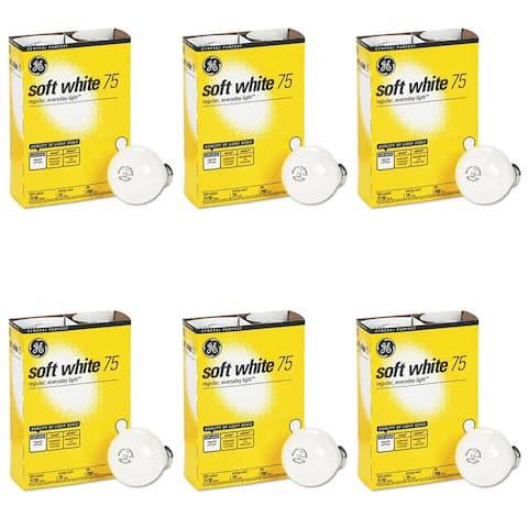GE 41032-48 75-Watt A19, Soft White 4 Bulbs Per Pack (6 Pack) - Soft White