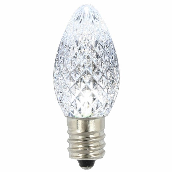 C7 Faceted LED Pure White Bulb .96W