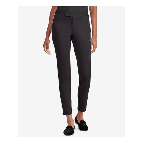 RALPH LAUREN Womens Black Side-stripe Wear To Work Pants Size: XL