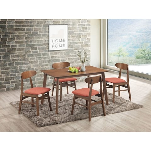 Morocco 5-pc Mid-Century Modern Upholstered Dining Set