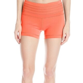 prAna NEW Neon Orange Women's Size Large L Ribbed Olympia Shorts