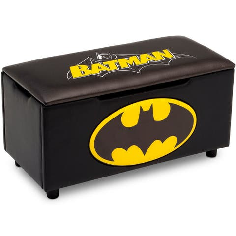 DC Comics Batman Upholstered Storage Bench for Kids by Delta Children
