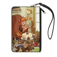 The Unbeatable Squirrel Girl Cake Squirrels Issue #3 Variant Cover Pose Canvas Zipper Wallet