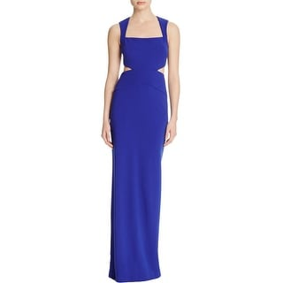 Nicole Miller Womens Evening Dress Cut Out Square Neck