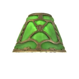 "Meyda Tiffany 22148 7"" Victorian Art Glass Gothic Bantam Shade"