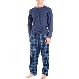 Rugged Frontier Men's Plaid Fleece 2-Piece Casual Lounge Pajama Set