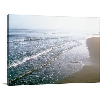 Premium Thick-Wrap Canvas entitled Waves on beach