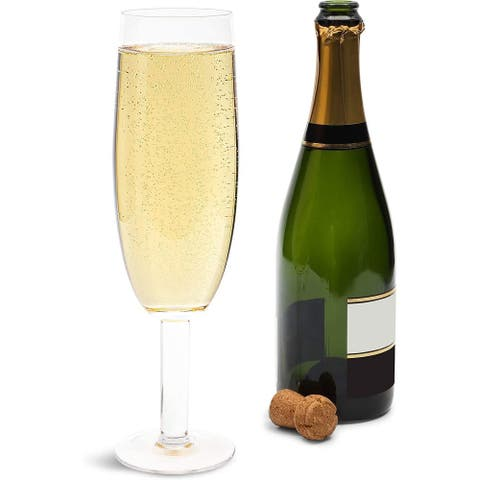 28oz Clear Giant Classic Champagne Flutes Glasses for Party Celebration Gift - 28 Oz