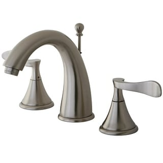 Kingston Brass KS297.CFL  Century 1.2 GPM Widespread Bathroom Faucet with Pop-Up Drain Assembly and Metal Handles