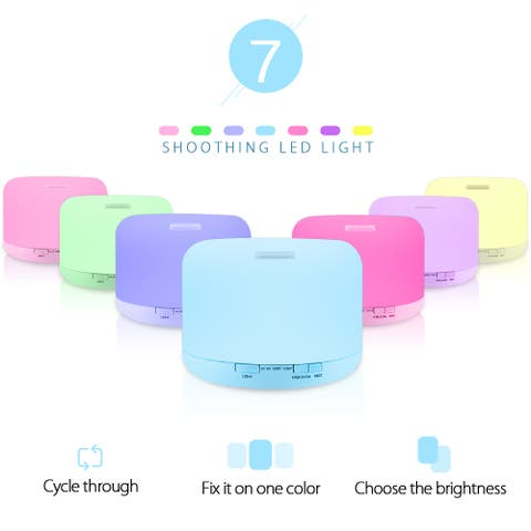 7 Colors Aromatherapy Diffuser with Black Controller US Plug