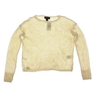 Polo Ralph Lauren Girls Linen Open Stitch Pullover Sweater - L