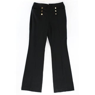 INC NEW Black Women's Size 6X33 High-Waist Flare-Leg Dress Pants