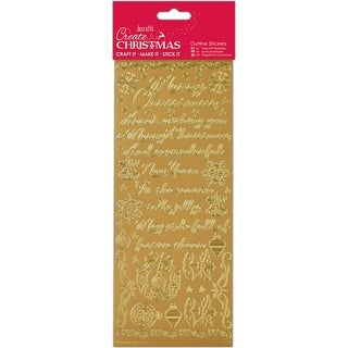 Traditional Christmas Verses - Gold-Papermania Outline Stickers
