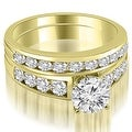 2.65 cttw. 14K Yellow Gold Classic Channel Set Round Cut Diamond Bridal Set - Thumbnail 0