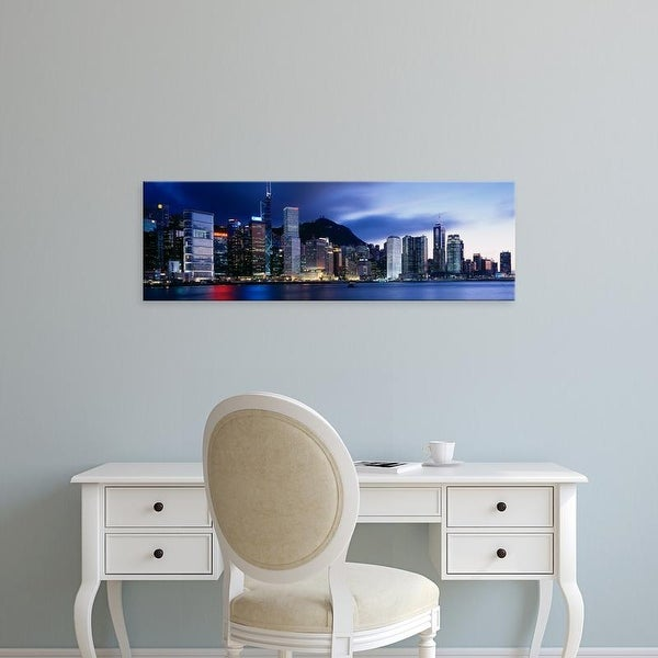 Easy Art Prints Panoramic Images's 'Central District Hong Kong Asia' Premium Canvas Art
