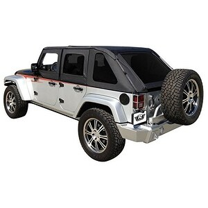 Rampage Products 109835 Black Frameless Soft Top Kit with Ti