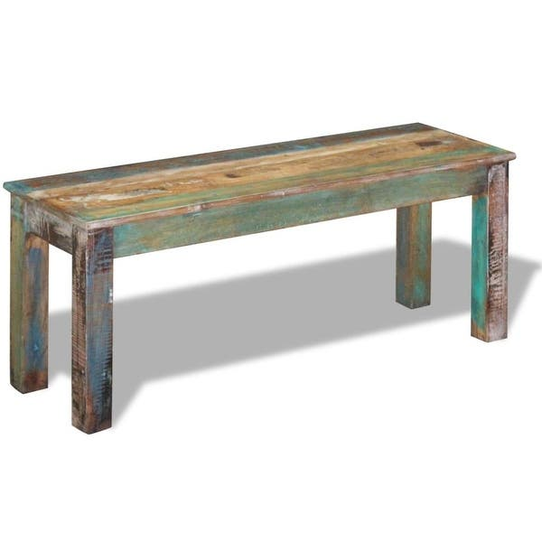 Fine Shop Vidaxl Solid Reclaimed Wood Bench Dining Seats Home Onthecornerstone Fun Painted Chair Ideas Images Onthecornerstoneorg