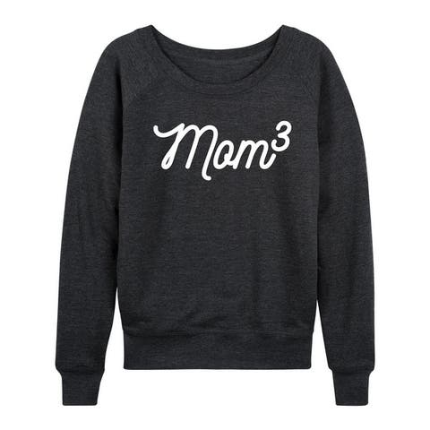 Mom To The 3rd Power - Women's Lightweight French Terry Pullover