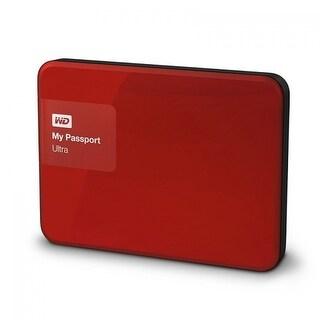 Refurbished - WD My Passport Ultra 2TB Red Portable External Hard Drive USB 3.0 WDBBKD0020BRD