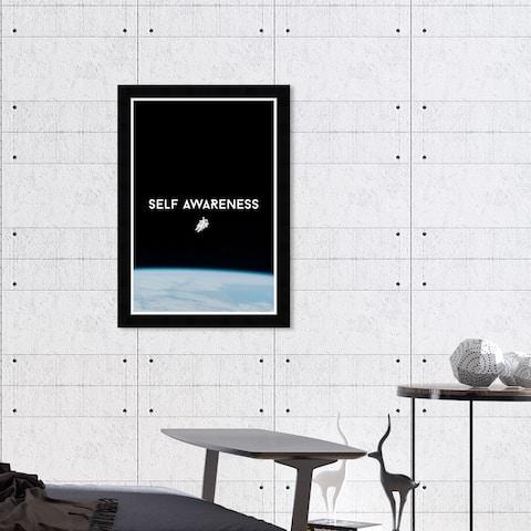 Hatcher & Ethan 'Self Awareness' Wall Art Framed Print - Black, Blue