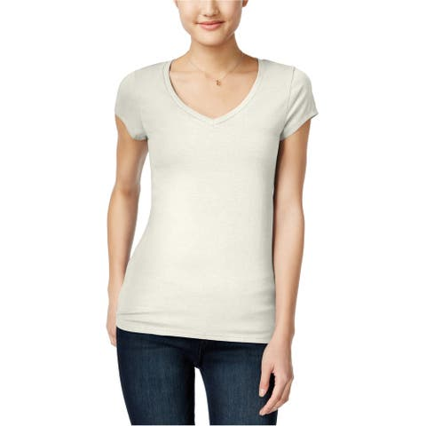 energie Womens Solid Basic T-Shirt, off-white, Medium