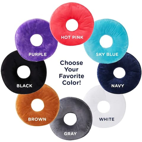 Cheer Collection Super Soft Round Donut Pillow - Assorted Colors