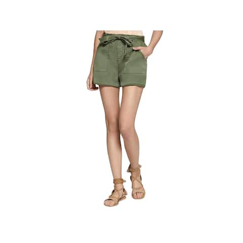 Sanctuary Womens Casual Shorts Twill Flat Front