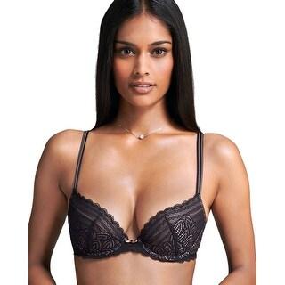 Chantelle Intimates Womens Black Merci Underwire Stretch Lace Push Up Bra 36C