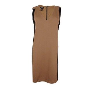Alfani Women's V-Neck Sleeveless Dress - New Camel