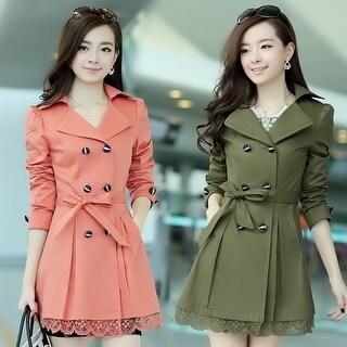 5 colors Women's Fashion Korea Style Long Sleeve Slim Coat Casual Jackets