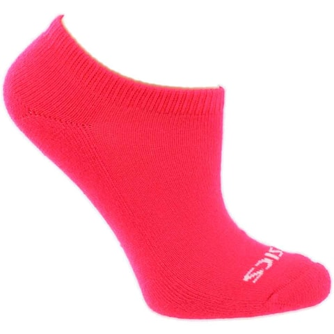 Asics Girls Youth Performance No Show 6-Pack Athletic Socks No-Show - L