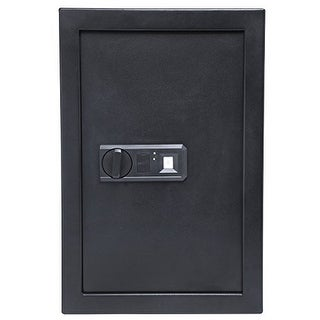 Ivation Biometric Digital Wall Safe  20.6 x 13.8 x 3.7 Home Security Box With Fingerprint Lock, Backup Keys & Mounting Kit