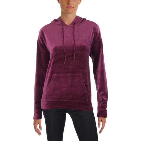 Juicy Couture Womens Collegiate Hoodie Velour Graphic