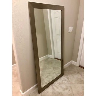 BrandtWorks American Made Stainless Silver 32 x 66-inch Floor Mirror