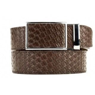Nexbelt Go-In! Basket Weave Brown Ratchet Golf Belt
