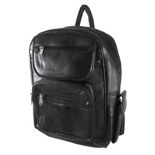 Large Black Lambskin Leather Backpack Purse