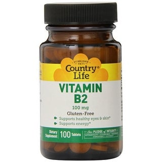 Country Life Vitamin B-2 100 Mg, 100-Count