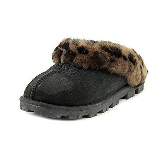 UGG Women's Coquette Black Leopard Slipper - 11 B(M) US