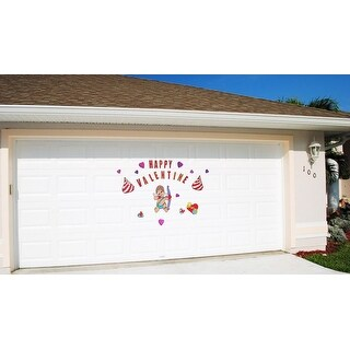 Happy Valentine Cupid with Arrow, Candy and Hearts Magnetic Door Decorations