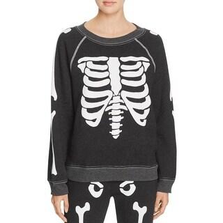 Wildfox Couture Womens Sweatshirt Skeleton Graphic