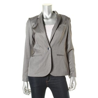 Calvin Klein Womens Pindot Single Vent One-Button Blazer - 2