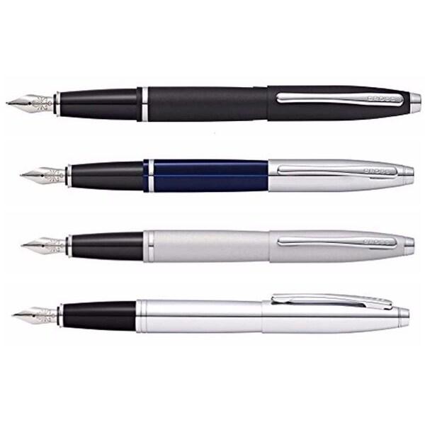 Cross Calais Collection with Medium SS Nib Fountain Pen Satin Chrome