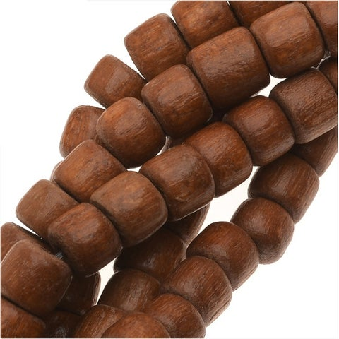 Pukalet Wood Beads, Dyed Round 4x5mm, 100 Pieces, Bayong Brown Lacquer