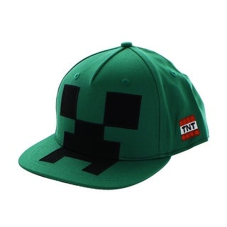 Minecraft Creeper Mob Snapback Hat - Green