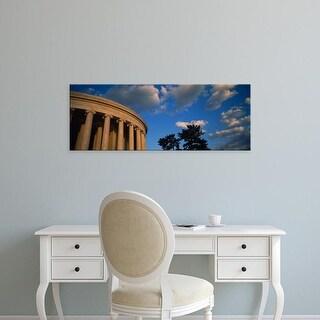 Easy Art Prints Panoramic Images's 'Clouds over a memorial, Jefferson Memorial, Washington DC, USA' Premium Canvas Art