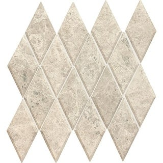 "Daltile L36HARBVMSU Limestone Collection - 6"" x 3"" Harlequin Mosaic Wall Tile - - arctic gray"