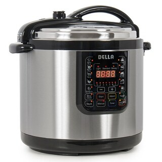 Della 10-in-1 Multi-Function Electric Pressure Cooker Stainless Steel, Programmable 10-QT