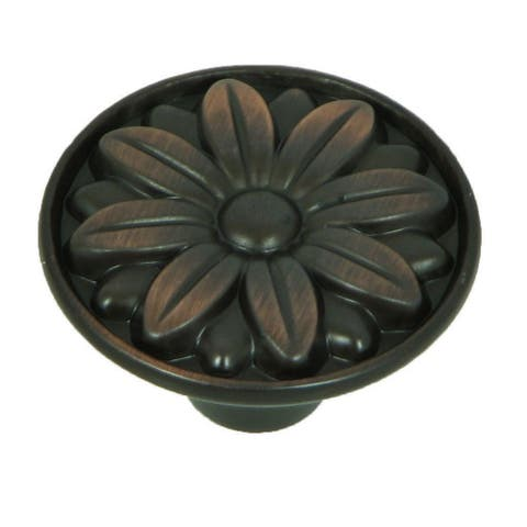 Stone Mill Hardware - Oil Rubbed Bronze Mayflower Cabinet Knobs (Pack of 5)