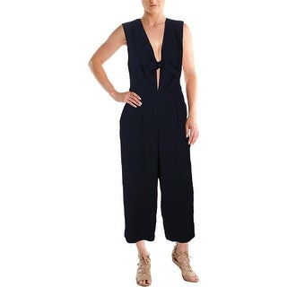 Rachel Rachel Roy Womens Jumpsuit Keyhole Front Wide Legged