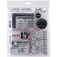 "Tim Holtz Cling Stamps 7""X8.5""-Etcetera"